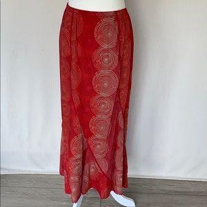J. Jill linen maxi skirt